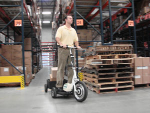 Cost-Effective GoPET Scooter Increases Warehouse Productivity