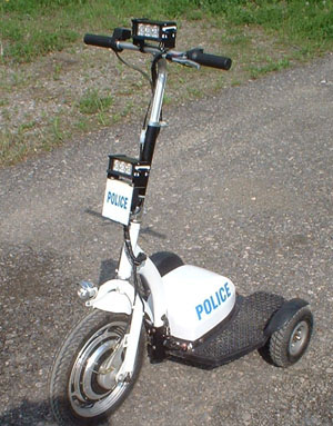 GoPet with police lighting and markings