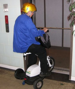 GoPet fits easily in most elevators and can be turned to exit.